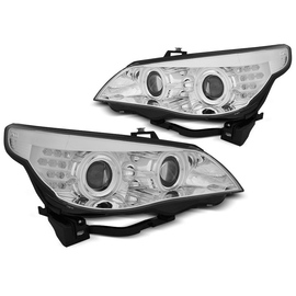 BMW E60 / E61  03-07  CHROM Angel Eyes CCFL + kierunkowskaz  LED  LPBMH8