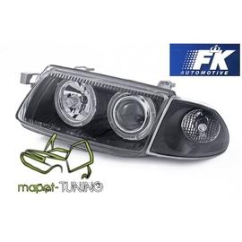 Opel Astra F  Clear BLACK Angel Eyes soczewki ringi  FK LPOP89