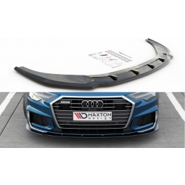 Przedni Splitter / dokładka ABS (ver.2) - Audi A6 C8 S-Line / S6 C8