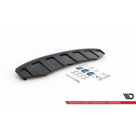 Splitter Tylny Środkowy - Audi A6 C7 S-Line Avant Wydech 2x1 (Z dyfuzorem)