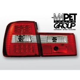 BMW E34 Sedan CLEAR RED/WHITE LED czerwono-białe diodowe LDBM16