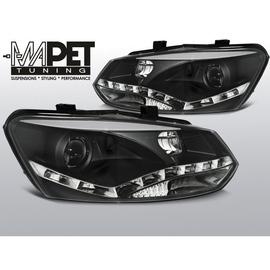 VW POLO 6R - DRL BLACK LED - diodowe dzienne - LPVWN4
