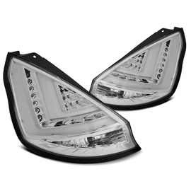 FORD FIESTA MK7 12-15 HB CHROM LED BAR  diodowe LDFO48