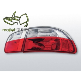 Honda Civic - clearglass Red/White 91-95 3d  LTHO05