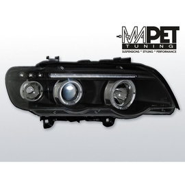 BMW E53 X5 Angel Eyes BLACK czarne Ringi + LED BM43