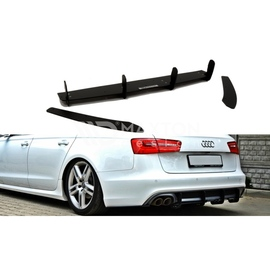 Dyfuzor RACE Tylnego Zderzaka ABS - Audi A6 C7 Avant S-line - z wydechem po 1 stronie