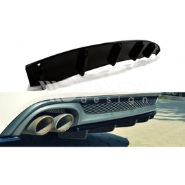 Dyfuzor Tylnego Zderzaka ABS - Audi A6 C7 S-line Avant - wydech z 1 strony