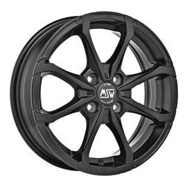 Felga aluminiowa MSW X4 5x15 4x100 ET32 MATT BLACK