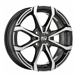 Felga aluminiowa MSW X4 5x15 4x100 ET32 GLOSS BLACK FULL POLISHED