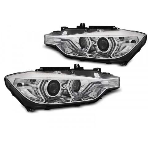 Lampy BMW F30 / F31 CHROM LED DRL do jazdy dziennej LPBMN1