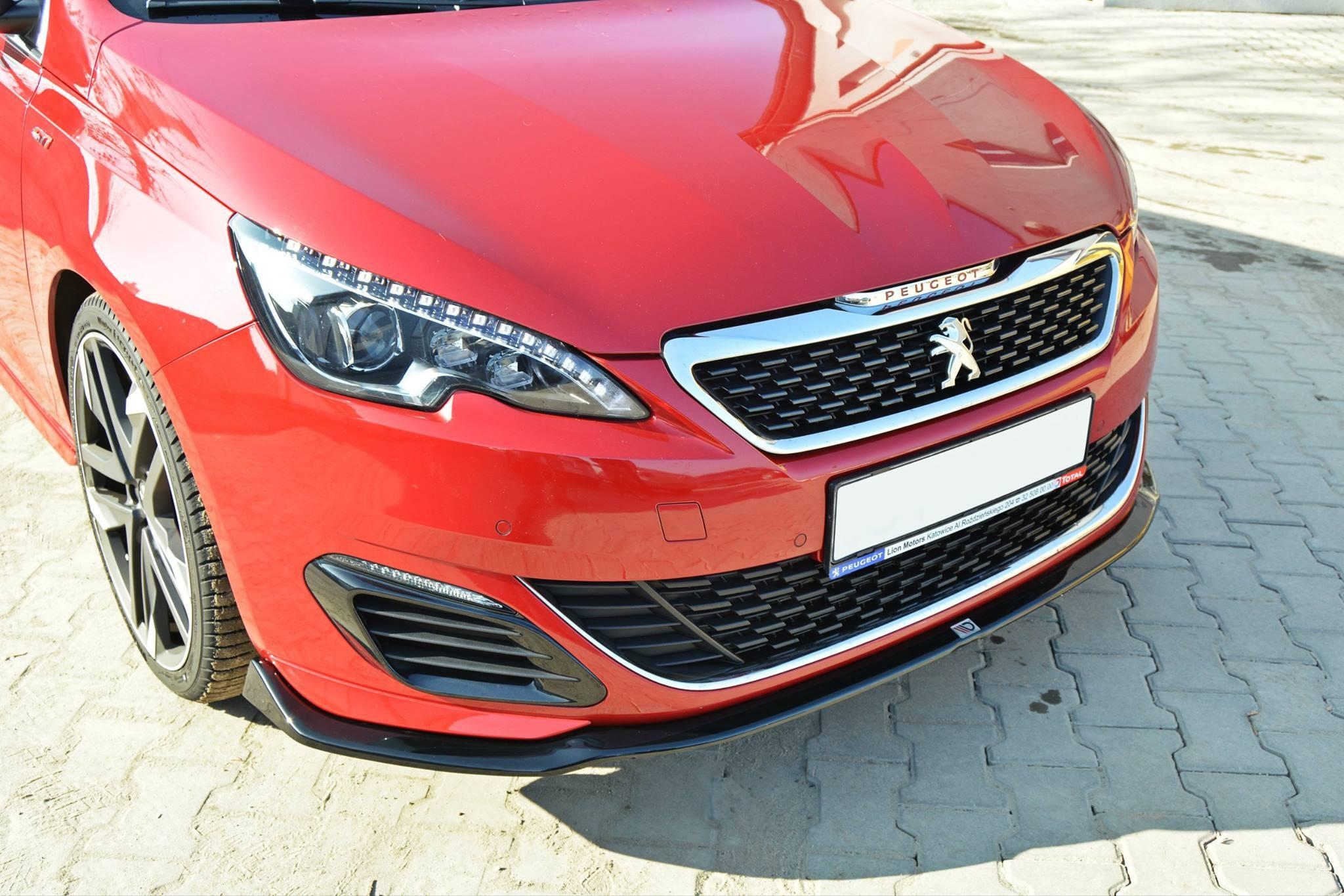 Przedni Splitter / dokładka ABS (wer.1) - Peugeot 308 II ...