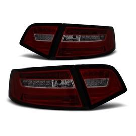 Audi A6 C6 Sedan 08-11 - Smoked Red Led - Diodowe Dynamiczny kierunek LDAUF3