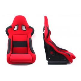 Fotel kubełkowy sportowy RICO Welur Red - Czerwony
