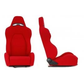 Fotel sportowy DRAGO Welur Red - Czerwony