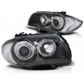 BMW 1 E87 / E81  04-11  GREY Angel Eyes  ringi LED  DEPO LPBMD6