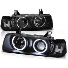 BMW E36 SEDAN COMPACT TOURING BLACK Angel Eyes ringi CCFL BM68