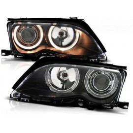 BMW E46 Sedan / Touring 01-05 Angel Eyes BLACK Ringi  FK LPBM86