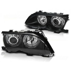 BMW E46 Sedan / Touring 01-05 Angel Eyes LED BLACK Ringi diodowe LPBMG3