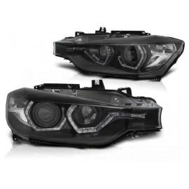Lampy BMW F30 / F31 BLACK LED DRL do jazdy dziennej LPBMI8