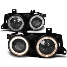 BMW E32 Angel Eyes z BLACK - czarne + ringi DEPO  LPBM60