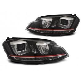 VW Golf 7 - BLACK LED DRL dzienne - GTI z dynamicznym kier. LPVWR2