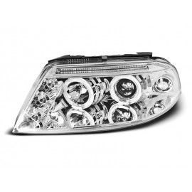 VW Passat B5FL clear Angel Eyes CHROM  LED ringi LPVW79