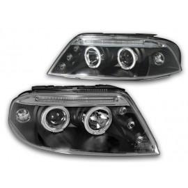 VW Passat B5FL clear Angel Eyes BLACK  LED ringi LPVW80