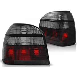 VW Golf 3 clearglass  Black SMOKED + Red   DEPO LTVW98