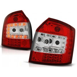 Audi A4 B6 Avant Kombi - Clear Red/White Led - Diodowe LDAU34