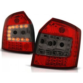 Audi A4 B6 Avant Kombi - Clear Red/Black Led - Diodowe LDAU35