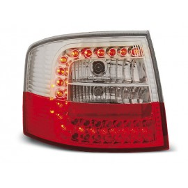 Audi A6 C5 Avant  clearglass Red/White LED czerwono-białe LDAU51