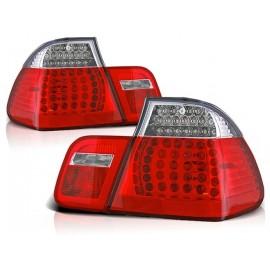 BMW E46 Sedan Clear Red/White Led diodowe LDBM78
