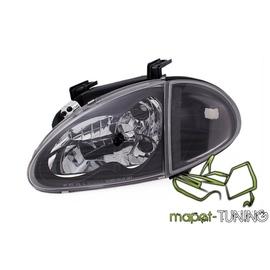 Honda CRX Del Sol 92-96 clear BLACK LPHO26 + kierunkowskazy