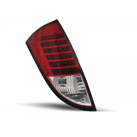 Ford Focus 1 -  clearglass Red/White LED - diodowe LDFO24
