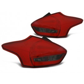 FORD FOCUS 3  2015-  RED / BLACK LED diodowe LDFO54