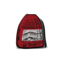 Honda Civic Hatchback - clearglass Red/White LED 95-01 3d  LDHO02