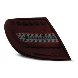 Mercedes C-klasa Sedan (W204) smoked red FULL LED BAR - DIODOWE  LDME72