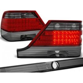 Mercedes S-klasa (W140) clearglass Red Black LED diodowe LDME31