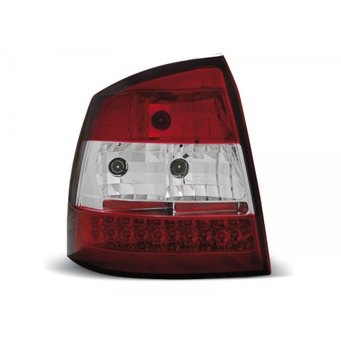 Opel Astra G 3/5d - clearglass LED red/white - diodowe  LDOP01