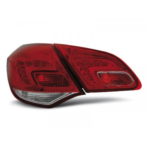 Opel Astra J IV - Red / White LED - diodowe  LDOP44