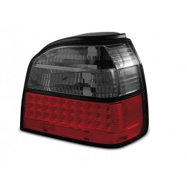 VW Golf 3  - clearglass RED / BLACK LED - diodowe   LDVW36