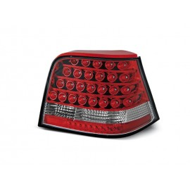 VW Golf 4 clearglass  LED RED / White diodowe LDVW21