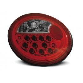 VW New Beetle clearglass  LED RED / WHITE diodowe LDVW40