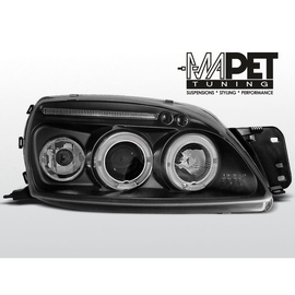 Ford Fiesta 99-02 clear Angel Eyes BLACK soczewka ringi LPFO27