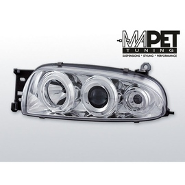 Ford Fiesta 95-99 clear Angel Eyes CHROM soczewka ringi LPFO07
