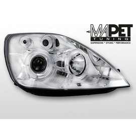Ford Fiesta 02-05 clear Angel Eyes CHROM soczewka ringi LPFO08