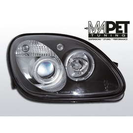 Mercedes SLK 96-00 Angel Eyes BLACK soczewki ringi LPME15