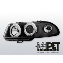 Opel Astra F  91-94 clear Angel Eyes BLACK soczewka LPOP02