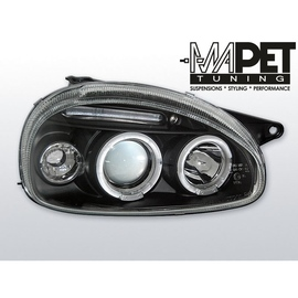 Opel Corsa B clear Angel Eyes BLACK soczewka ringi LPOP27