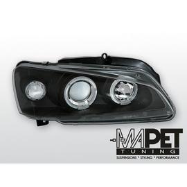 Peugeot 106 clear Angel Eyes BLACK soczewka ringi LPPE15